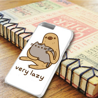 Pusheen Cat And Sloth Very Lazy iPhone 6 Plus | iPhone 6S Plus Case