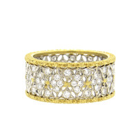 Buccellati Gold Diamond Band Ring