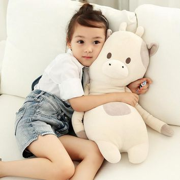 60cm Kawaii animal plush dolls kids stuffed toys for children soft comfort sleeping pillow Cows/rabbit/fox/teddy bear