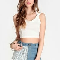 A Dream Deferred Lace Detail Shorts