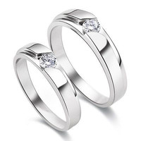 0.50 ct White Round cut solitaire sterling silver wedding ring with free ship2