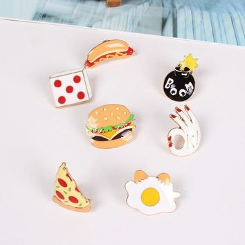 Fast Food Pin Badges