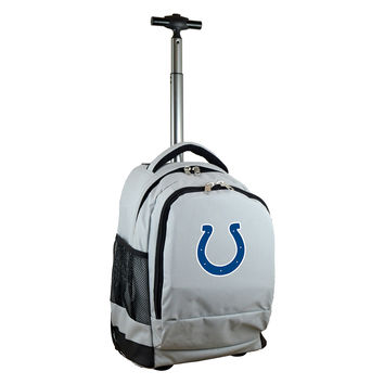 Indianapolis Colts  Wheeled Premium Backpack-Gray