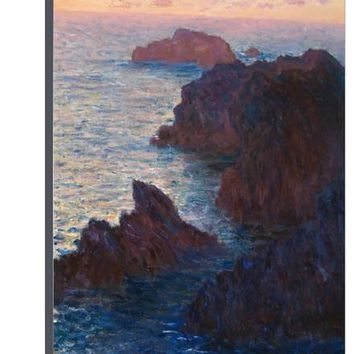 Rocks at Bell-Ile, Port-Domois, 1886 Stretched Canvas Print by Claude Monet at Art.com