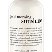 philosophy 'good morning sunshine' shampoo shower gel & bubble bath (Limited Edition)
