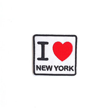 I love New York Applique Iron on Patch Size 6.1 x 5.8