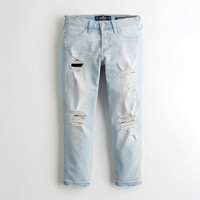 Girls Vintage Stretch Low-Rise Boyfriend Jeans | Girls Clearance | HollisterCo.com