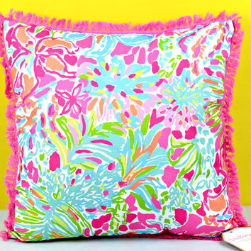 LILLY PULITZER: Large Pillow - Spot Ya