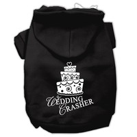 Wedding Crasher Screen Print Pet Hoodies Black Size Med (12)