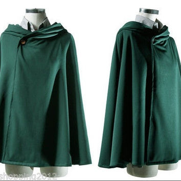 Attack on Titan Shingeki no Kyojin Scouting Legion Cloak Cape Cosplay Costume 13 = 1958046404