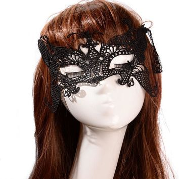 Hot Sale Sexy Lace Mask Bat/Flower/Butterfly Masquerade Ball Halloween Party Fancy Dress Costume Cool drop shipping