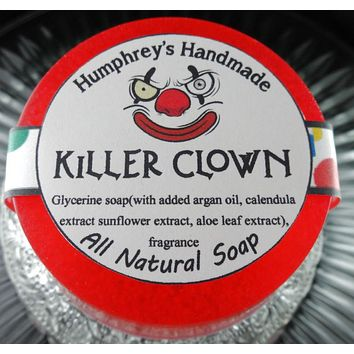 KILLER CLOWN Soap | Cotton Candy Scent | Glycerin Shave & Shampoo Soap