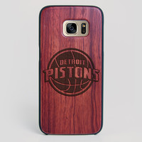 Detroit Pistons Galaxy S7 Edge Case - All Wood Everything