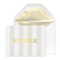 Note to My Father on Wedding Day Card