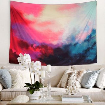 New Pink Clouds Bohemian Fabric Tapestry