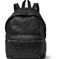Saint Laurent - Washed-Leather Backpack