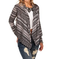 BlackTaupe Aztec Printed Jacket