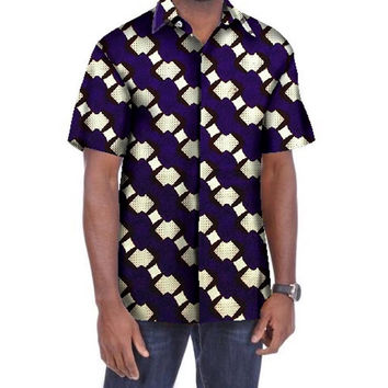 Tailor-made Shirt African Wax Printed Leisure Dashiki For Men JJ66