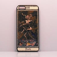 Iphone 6 case Iphone 5 iphone 4  Tarot Card Death Vintage art    Samsung Ipod Case mobile cell phone cover snap case