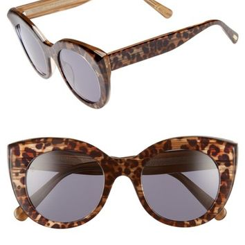 D'BLANC x Amuse Society Modern Lover 49mm Cat Eye Sunglasses | Nordstrom