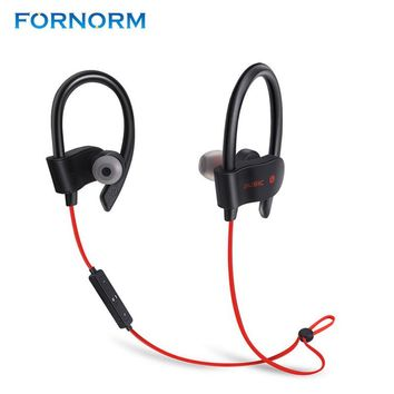 FORNORM Wireless Bluetooth 4.1 Earphones Headphone Sport Running Headset Stereo Bass Earbuds Handsfree With Mic