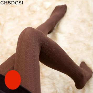 CHSDCSI Winter Warm Girls Cute Lovely Hearts Candy Color Pantyhose Women's Tights Velvet Stockings Female Elastic Slim Stocking