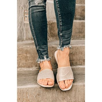 Steal Your Shine Slip On Jelly Sandals (Nude)