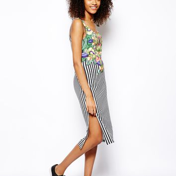 Monki Stripe Dress