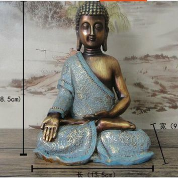 Hand-painted gilt resin buddha ornaments statue ~ D