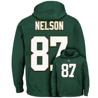 Majestic Green Bay Packers Jordy Nelson The Eligible Receiver II Fleece Hoodie - Men