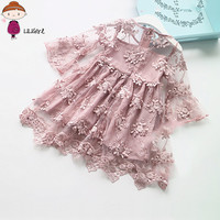 LILIGIRL Summer Girl Clothes Kids Dresses For Girls Lace Flower Dress Baby Girl For Party And Wedding Party Clothes