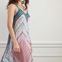 Scarf Print Cover-Up Dress