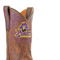 Gameday East Carolina Ladies Leather Boots - Brass