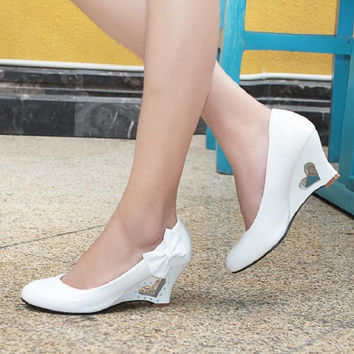 Diah Heart Cutout Wedges