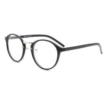 Vintage Classic Women Clear Lens Plastic Round Frame Nerd Geek Glasses Eyeglasses 5 Colors LY6 SM6