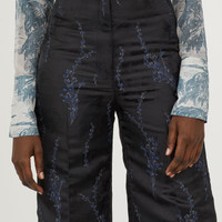 Jacquard-patterned trousers - Black/Patterned - Ladies | H&M GB