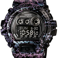 Casio Mens G-Shock 6900 Purple and Blue Electric Black - 200 Meters - World Time