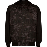 Lira All Day Mens Quilted Jacket Camo/Black  In Sizes