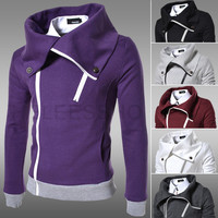 Men's Fashion Slim Casual Fleece Thicken Men Hoodies Jacket [6528748099]
