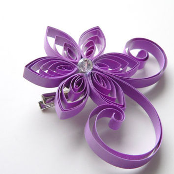 Lilac Brooch Hair Clip, Mother of the Bride Flower, Purple Bridesmaid Gift, Lilac Wedding Corsage
