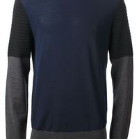 Neil Barrett contrast sweater