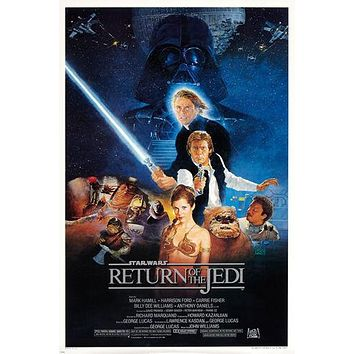 STAR WARS return of the JEDI MOVIE poster princess LEIA darth VADER 24X36