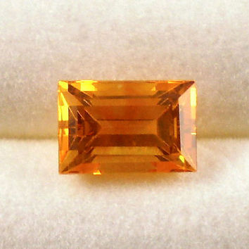 Yellow Sapphire: 1.93ct Golden Emerald Shape Gemstone, Natural Hand Made Faceted Gem, Loose Precious Corundum Mineral, Jewelry Supply 20254