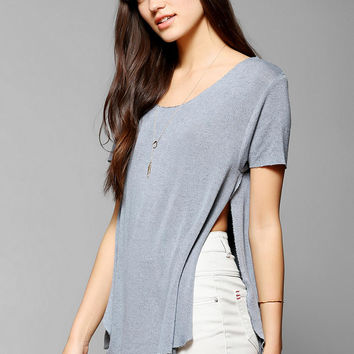 Truly Madly Deeply Split-Hem Tee - Urban Outfitters