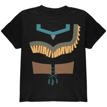 DCCKIS3 Halloween Native American Princess Costume Youth T Shirt