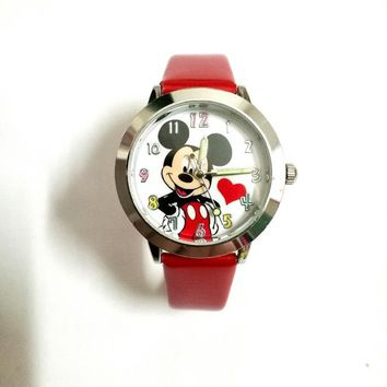 Quartz causal kids watch Cartoon 3D children girls Minnie Mouse hello kitty style boys Colors dial students gift wrist watches