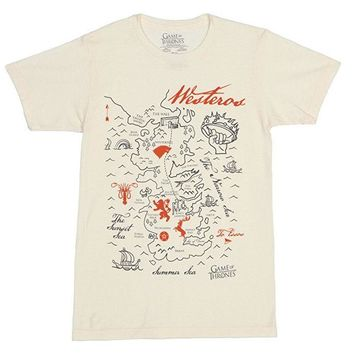 Game Of Thrones MAP OF WESTEROS T-Shirt NWT Licensed & Official