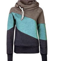 Color Match Hooded Sweatshirt