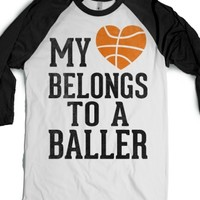 White/Black T-Shirt | Cute Basketball Girlfriends Shirts