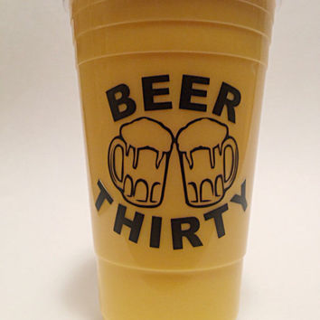 Car Window Decal - Vinyl Decals - Beer Decal - Car Decal - Over 20 Colors Available - Gifts for Him - Tumbler Decal - Beer Thirty